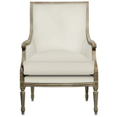 Boxwell chair by Currey and Company. Shown in Muslin fabric.  *Call for custom options