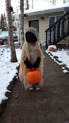Our ghost costume! He loved it!