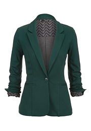 green Chevron cuff knit blazer - maurices.com
