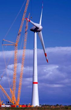 Germany ~ Enercon E-126 ~ a single blade is 126 meters (413 ft). Production rated at 6 but estimated to produce 7 mgw