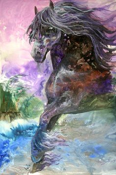 Stormy Wind Horse Painting