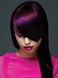 Multi- tone fushia and purple Very cool color!.. I usually don't like the off the charts color.. but I love this one. Stunning!