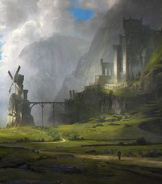 Fantasy Art Engine | fantasyartwatch:   Ventus Castle by Jordan Grimmer