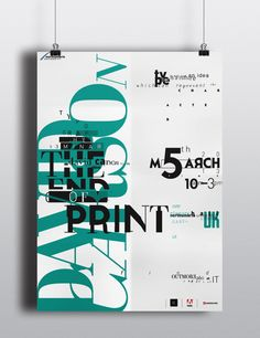 The End Of Print by David Carson Poster by wildan ilham, via Behance