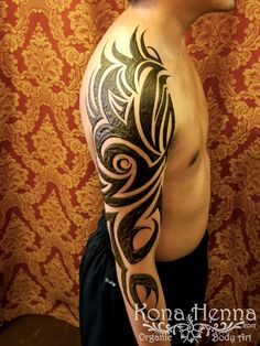 Kona Henna Studio - Black Art Tribal Sleeve