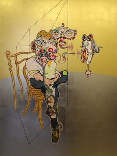 Homage to Francis Bacon, 2016 by Takashi Murakami. Superflat, Francis Bacon, Takashi Murakami Prints, Takashi Murakami Sculpture, Fondation Louis Vuitton, Art Japonais, Japanese Artists, Monster, Art Plastique