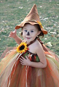 Not so Scary Scarecrow  Halloween Tutu Costume size 24mo 2Tto 4T via Etsy.