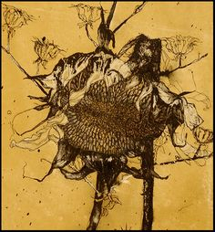 """Helen Gotlib - """"Fall"""" Pen, ink, color pencil and gouache on white paper ~25""""x52"""""""