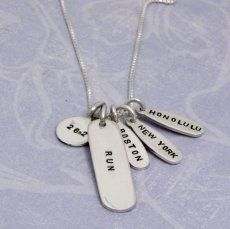 Marathon Necklace from Heart On Your Wrist - personalize it for your own races!