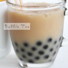 Bubble Tea Recipe 1/3 cup cooked boba (giant black tapioca) 2/3 cup hot black tea brewed with 1 teabag 3 tablespoons granulated sugar *adjust the amount to your liking 3 tablespoons hot water 3 tablespoons milk ½ cup ice cubes