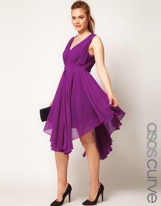 5ef5df7d3bf  CURVE Chiffon Dress With Gathered Skirt  Gathered Skirt