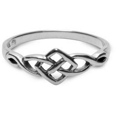 Petite Celtic Ring ❤ liked on Polyvore
