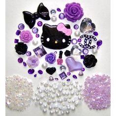 DIY Hello Kitty Bling Bling Cell Phone Case Resin Flatback Deco Kit / Set -- lovekitty