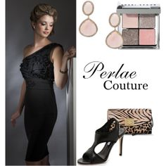 The Little Black Dress with a lot of Glam! Perlae Couture's Black Ruffled Cocktail Dress is the perfect little black dress for spring! Pair it with stylish black pumps from Diane Von Furstenberg, lovely pink earrings and this glamorous Sergio Rossi animal print clutch and you will look incredible! #Littleblackdress #Cocktail Dress #Animal Print
