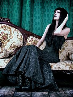 Model: Sammii Sinvil Photo by Harley Mace Skirt: The Gothic Shop Contact Lenses…