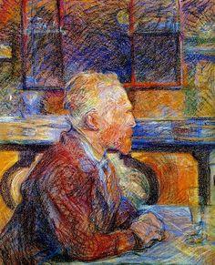 Portrait of Vincent by Henri de Toulouse-Lautrec (Van Gogh Museum, Amsterdam)