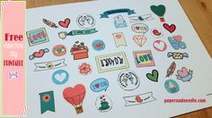 Stickers FREE per san valentino #freestickers #planner #valentine - paperandneedle.com