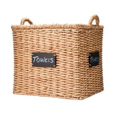 Image of Smith & Hawken Square Basket with Chalkboard