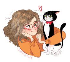 <3 the cat's face (Lissy Marlin illustration)