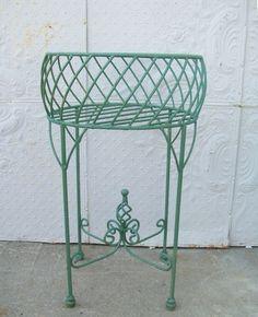 33 Iron Planter Urn with Twist -  Metal Plant Stand - Pot Holder