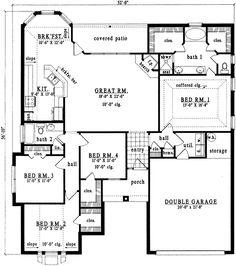 single story 3 br 2 bath duplex floor plans | dream home
