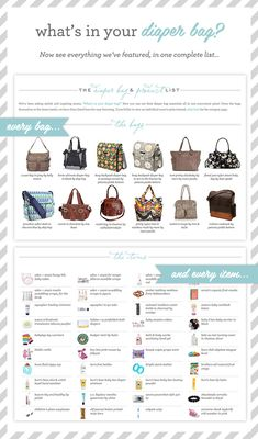 What's in your diaper bag? See the bags and all the goodies that moms have shared with us!