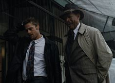 Se7en Director:   David Fincher Year: 1995It's hard to think of a movie that did more short-term damage to the length of your fingernails in the '90s than David Fincher's Se7en. The film follows detectives David Mills (Brad Pitt) and almost-retired William Somerset (Morgan Freeman) on the trail of John Doe, a murderer who plans his kills around the seven deadly sins.#FilmNoir #Movies