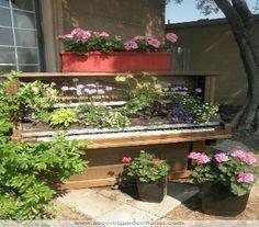 repurposed piano for the garden - Google Search