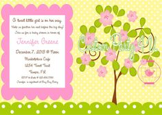 Spring Time Invitation by CustomParty4U on Etsy, $20.00