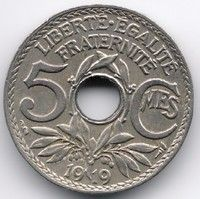 France 5 Centimes 1919
