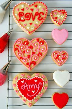 love cookies for #Valentine's_day