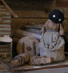 Primitive Sweet Liberty Homestead black sock doll. http://www.picturetrail.com/sweetliberty