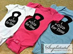 Crossfit Onesie or I Pood For Time Workout Onesie. $18.00, via Etsy. // haha for the next baby