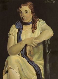 Portrait of Maria Carbona, 1925 by by Salvador Dali (Spanish 1904-1989)