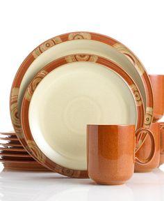 Denby Dinnerware, Fire Chilli 12 Piece Set, Service for 4