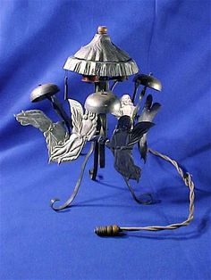 Vintage 1920's antique electric chime angel Christmas tree topper RARE KEYDEL CO