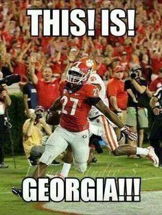Nick Chubb is a beast! Georgia Bulldogs Football, Dog Football, College Football Teams, Football Memes, Football Score, Football Season, Athens Georgia, Georgia Girls, Sick