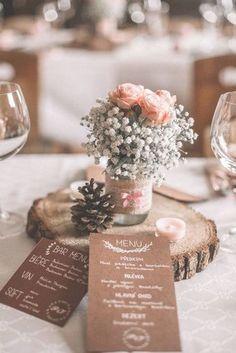 Svatební menu / Zboží prodejce Wedding by Peta Wedding Paper, Floral Wedding, Diy Wedding, Rustic Wedding, Dream Wedding, Wedding Table Settings, Wedding Table Centerpieces, Wedding Decorations, Wedding Entrance