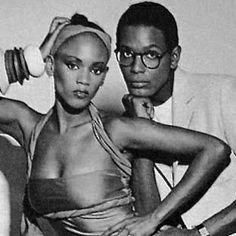 I remember Willi back in the day!  Late designer Willi Smith…with his sister model Tookie Smith.