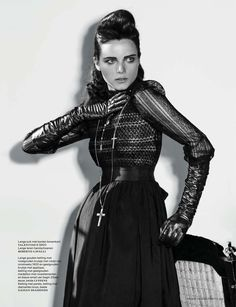 Neo Victorian The November Edition Of Vogue Netherlands Enlists Marc De Groot For A Story Inspired By Transylvania Vampires And Style Starring
