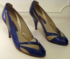 Sexy Vintage Cobalt/ Royal Blue and White Mesh...