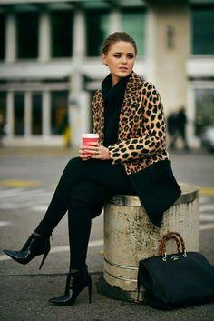 Cheetah black Winter wear