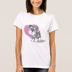 #Love Miniature Schnauzer Puppy Shirt - #miniature #schnauzer #puppy #schnauzers #dog #dogs #pet #pets #cute #miniatureschnauzer