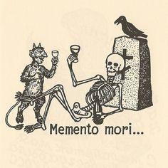 memento mori tattoo drinking - Google Search