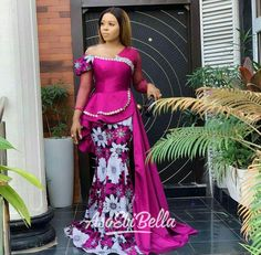 These Beautiful Ankara Long Skirt and Blouse Styles Needs Your At… By Zahra Delong - African Styles for Ladies Nigerian Lace Styles, Aso Ebi Lace Styles, Unique Ankara Styles, Lace Gown Styles, African Lace Styles, Latest Aso Ebi Styles, Blouse Styles, African Style, African Design