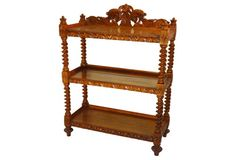19th-C. French  Carved Buffet