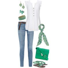 This is casual chic.Love these colors n accessories