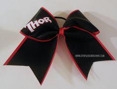 Thor Super hero Cheer bow