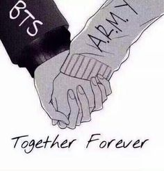 BTS & ARMY together forever<<<< this is so fucking cute oml