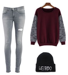 """""""idgaf"""" by nicoleaquilina on Polyvore featuring Dondup, women's clothing, women's fashion, women, female, woman, misses and juniors"""
